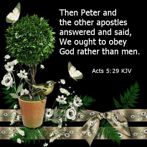 Acts 5:29 KJV