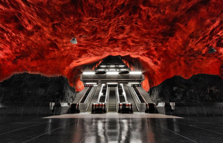 arquitectura en el metro - Arte en el metro de Estocolmo