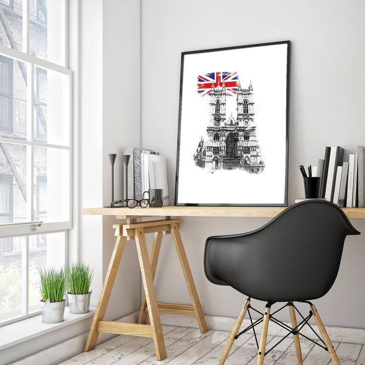 Westminster Abbey Watercolor Wall Art by PlatinumRoom on Etsy