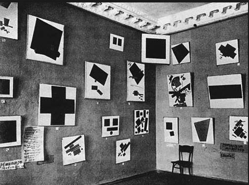 Suprematism art exhibition.  St. Petersburg 1915