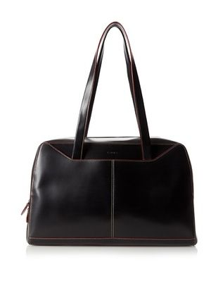 LODIS Women's Audrey Large Tote Bag, Black/Red, One Size