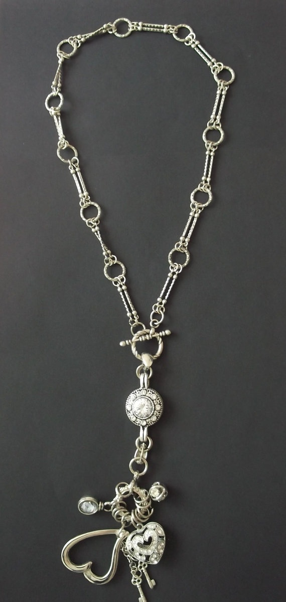 Fine Chain and Removable Charm Pendant by RaybelleJewellery, $46.00