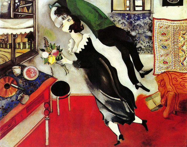 Marc Chagall - Birthday Kiss                                                                                                                                                     More