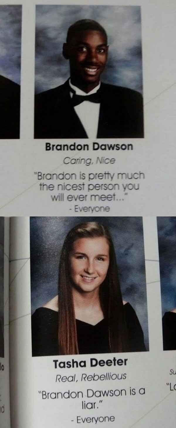 This heartwarming love story.   The 20 Most Important Yearbook Pages Of All Time