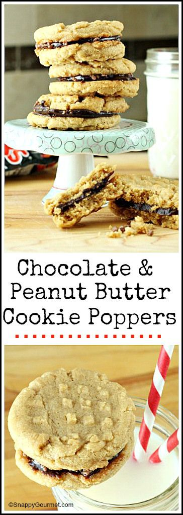 Chocolate & Peanut Butter Cookie Poppers recipe - easy homemade cookies with Pop Rocks! SnappyGourmet.com