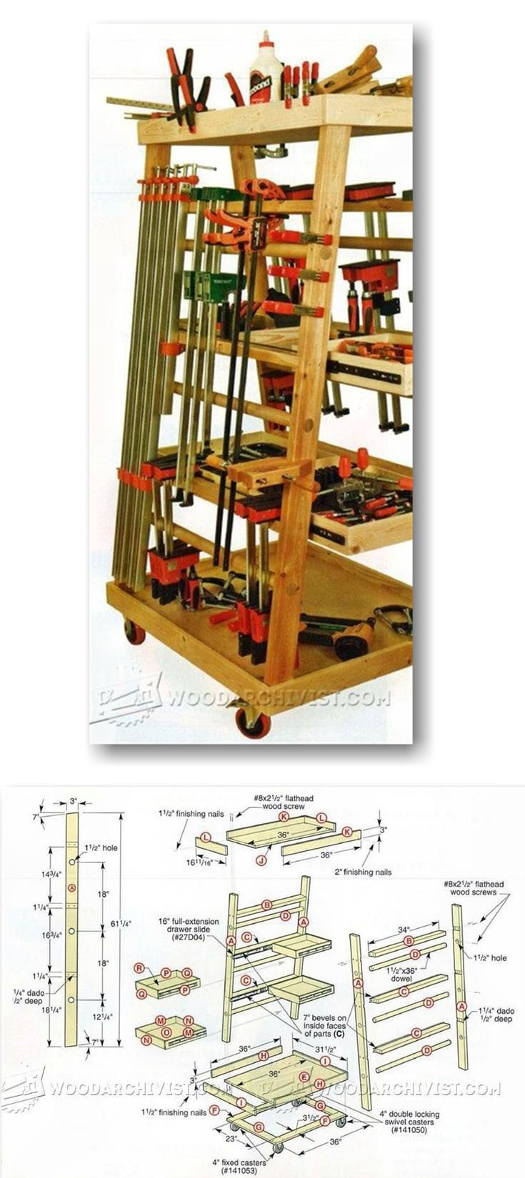 2323 best images about benches for woodworking on for Mobile lumber storage rack plans