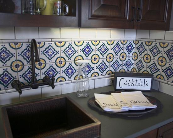 ~ Mexican Tile Backsplash