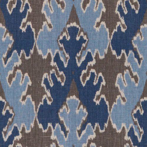 Groundworks BENGAL BAZAAR GREY/INDIGO Fabric