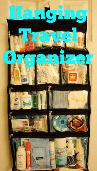 Hanging resort organizer - keep it packed for all trips - $19.99 at The Container Store