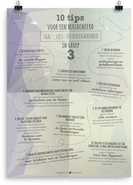 10 tips voor een beredeneerd aanbod in groep 3 - Prikkelende Poster