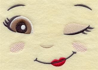 Simple doll pattern,doll eyes...