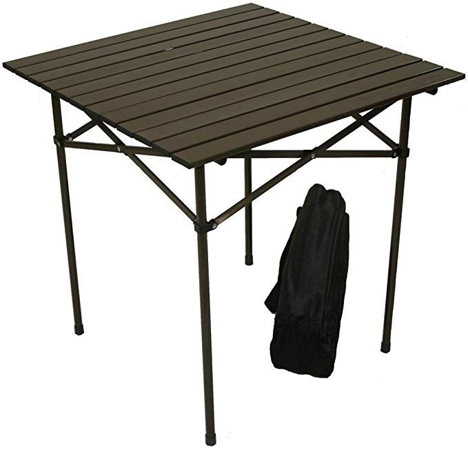 Amazon Com Table In A Bag Ta2727g Tall Aluminum Portable Table With Carrying Bag Green Folding Patio Tables In 2020 Portable Table Camping Table Aluminum Table
