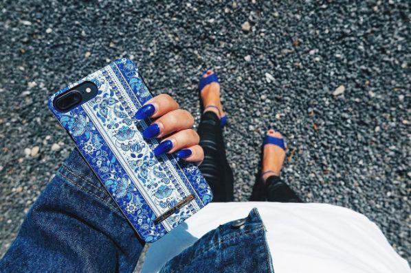Boho by lovely @medskor - Fashion case phone cases iphone inspiration iDeal of Sweden #Bohemic #blue  #fashion #inspo #iphone
