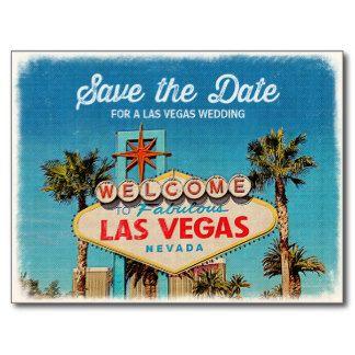Save The Date For A Fabulous Las Vegas Wedding Postcard  **EXPLORE An