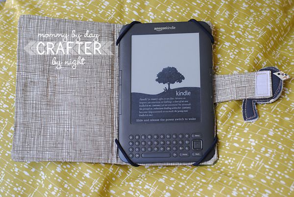 Kindle or Tablet or iPad Case. Easy with picture tutorial. Maybe could do a small one for a cell phone.