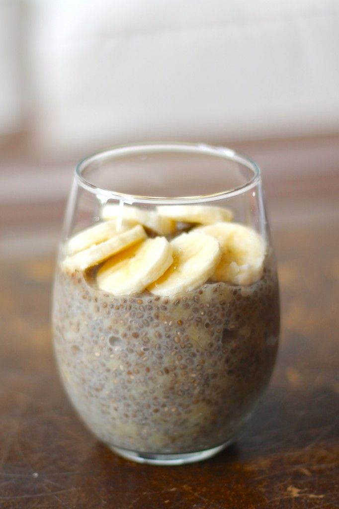 3-Ingredient Banana Chia Seed Pudding - This amazing desert or breakfast recipe fits all kinds of diets: paleo, gluten-free, vegan, clean eating, etc!
