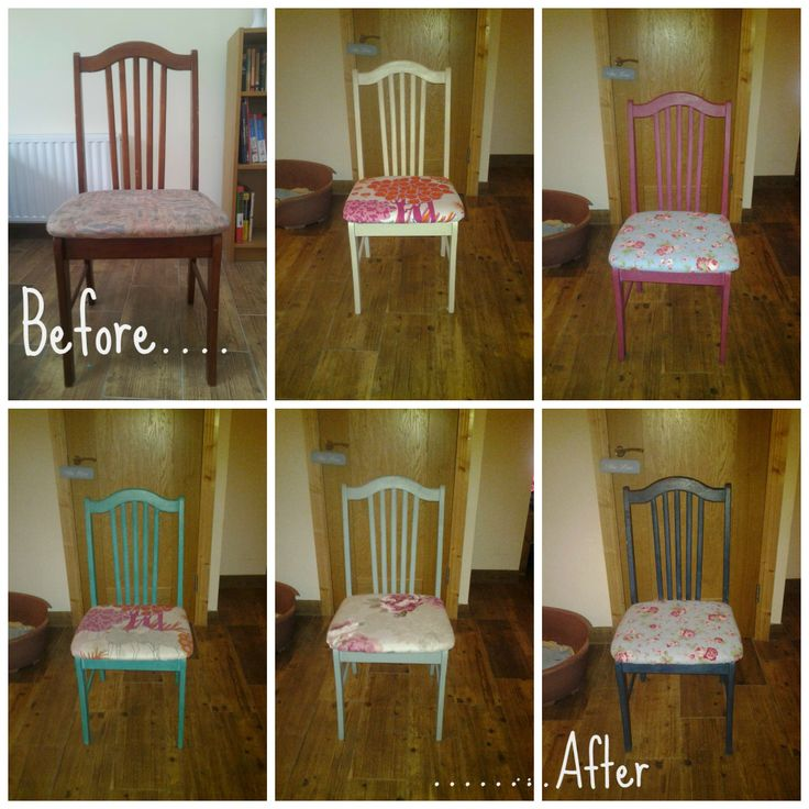Some more great photos from our customers!  These chairs have been given a makeover using Chalk Paint a decorative paint by Annie Sloan! Well done Hazel they look great! www.moss.ie