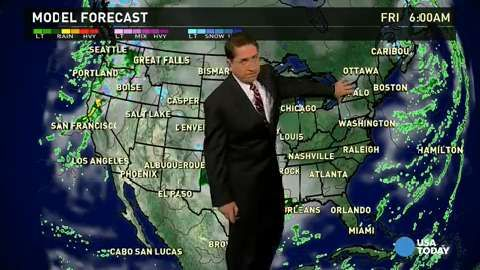 Dec 19 Friday's forecast: Stormy in West, South