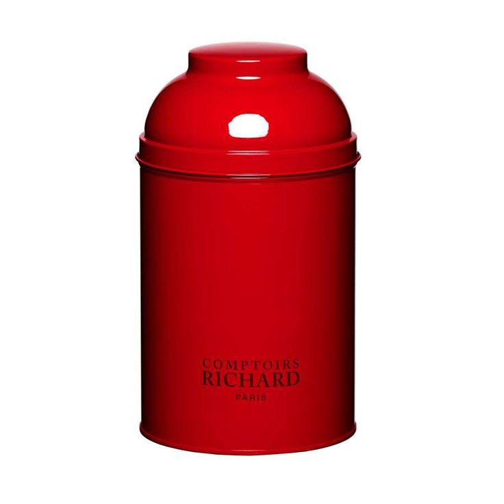 Boîte dôme laquée rouge Comptoirs Richard