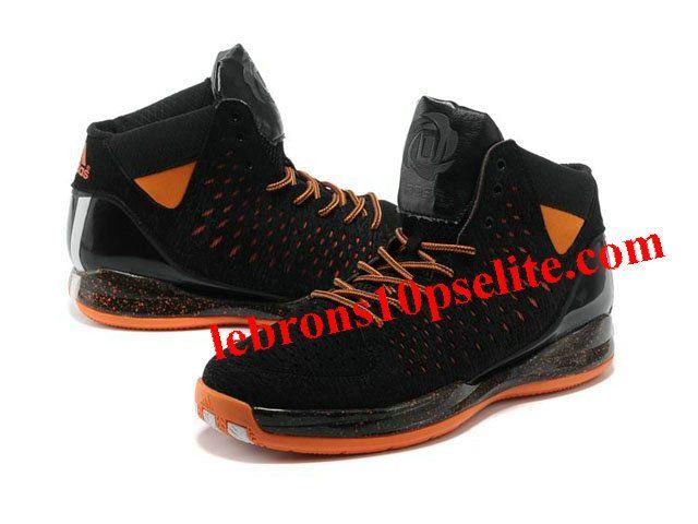 new arrival 1f7ae 6aadb ... Adidas AdiZero Rose 3.0 Shoes Black Orange ...