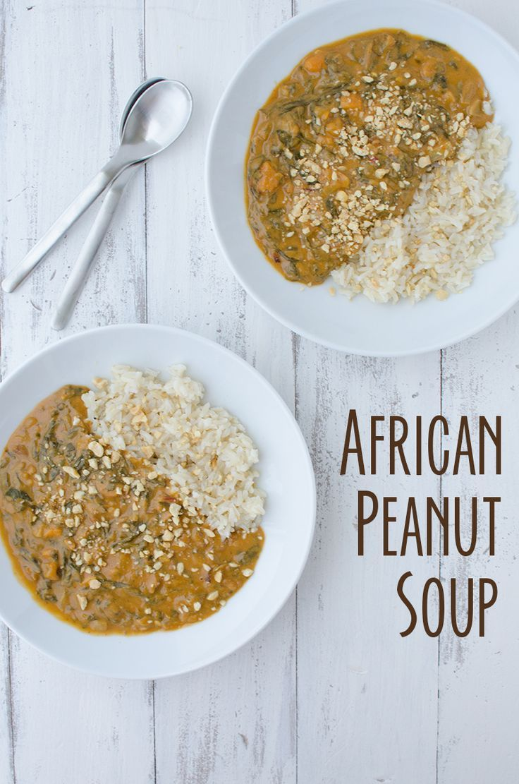 African Peanut Soup! If you haven't had peanut soup before, you must try this one! Vegan, gluten-free and healthy! Serve on it's own or with brown rice. | www.delishknowled...