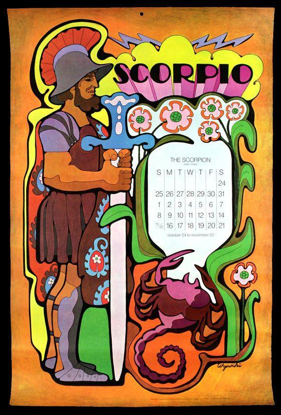 HARRY WYSOCKI 1960s Astrological Zodiac Calendar by ladouchka