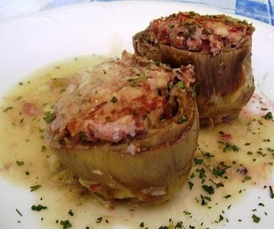 Asopaipas. Recetas de Cocina Casera.: Alcachofas Rellenas de Jamón