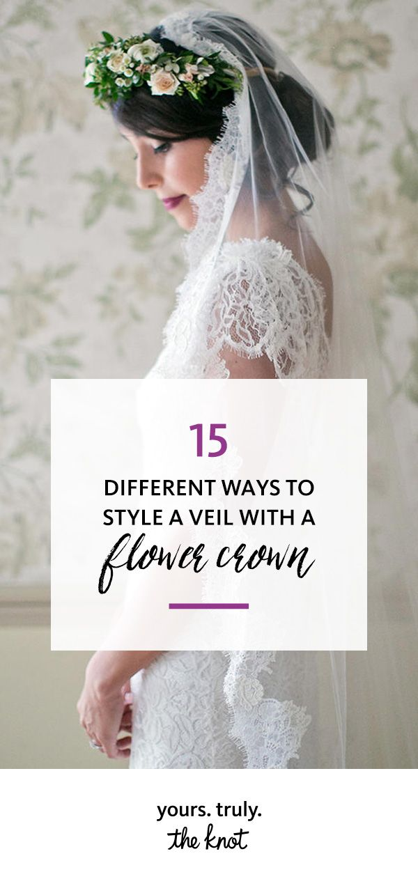 Deciding between a traditional veil and a flower crown? Don't worry—you can have both on your wedding day!