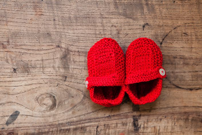 baby knit shoes ++ fog linen work