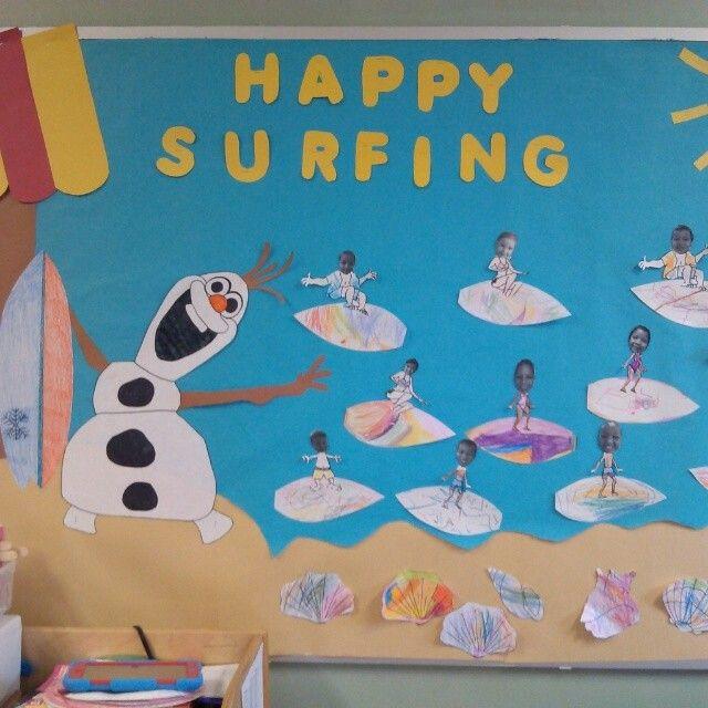 Summer surfing with olaf bulletin board