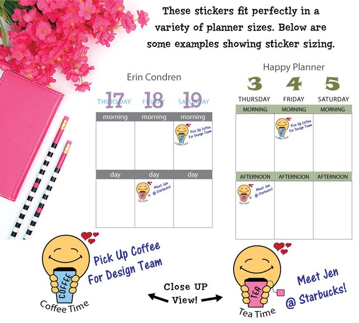 Joys of Life Coffee Time & Tea Time Stickers - Style 526.  Fits  planners like Erin Condren, Happy Planner, Kikki K, Filofax and more. Smile more!  Coffee Break. Cappuccino, mocha, latte, caramel. Tea Time. Green, Black, White, Matcha, Chai, Tea. Yummy!