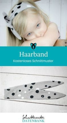 Haarband für Mädchen Nähen mit Jerseyresten kostenloses Schnittmuster Gratis-…