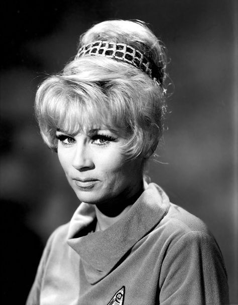 Star Trek: Early and rare publicity photo of Yeoman Janice Rand.