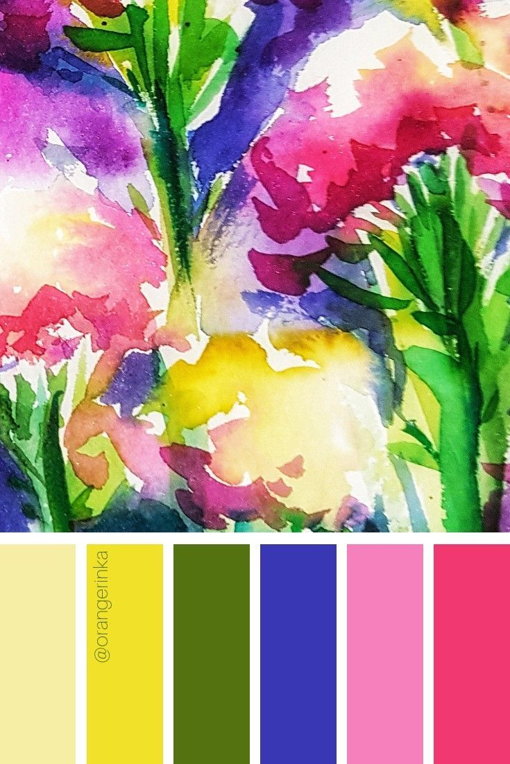 Floral Color Palette By Orangerinka For Home Decor Inspiration