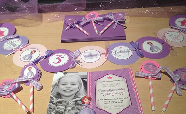 Sophia the first birthday invites.