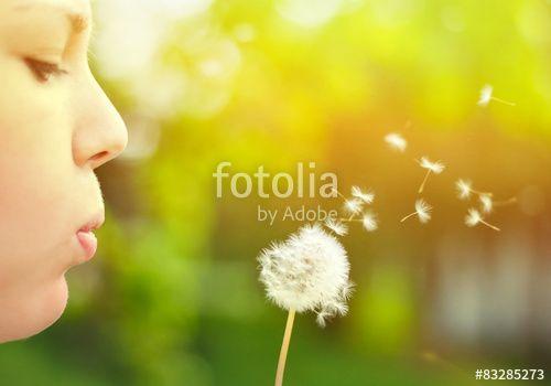 """Laden Sie das lizenzfreie Foto """"Close up ow woman blowing dandelion flower"""" von Aleksandar Mijatovic zum günstigen Preis auf Fotolia.com herunter. Stöbern Sie in unserer Bilddatenbank und finden Sie schnell das perfekte Stockfoto für Ihr Marketing-Projekt!"""