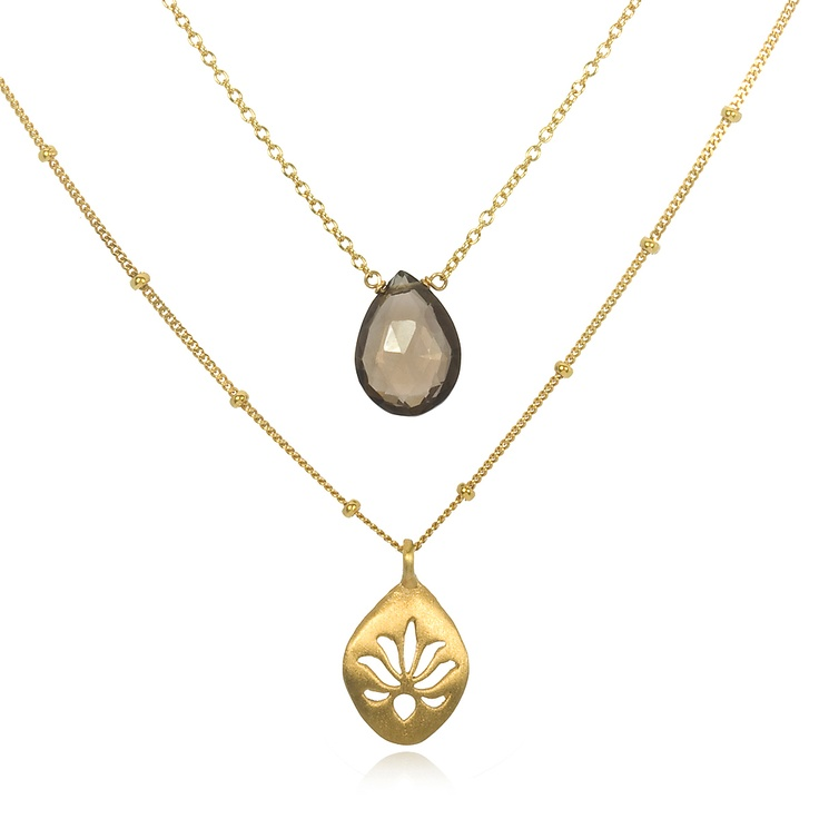 Satya - Open for Bliss Necklace - positive energy + new beginnings: Topaz Necklaces, Dreams Closet, Bliss Necklaces, Double Necklaces, Positive Energy, Lotus Necklaces, Fall Wint Fave, Fall Wint Dreams