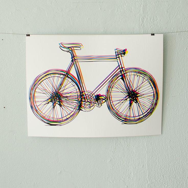 CMYK Bicycle poster
