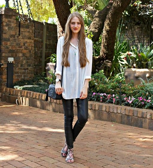 Get this look: http://lb.nu/look/7872790  More looks by Nikki S: http://lb.nu/fashionablepassion  Items in this look:  Gucci Bag   #casual #minimal #monochrome #simple #fashionablepassion #southafrica #leather #longerlength #gucci
