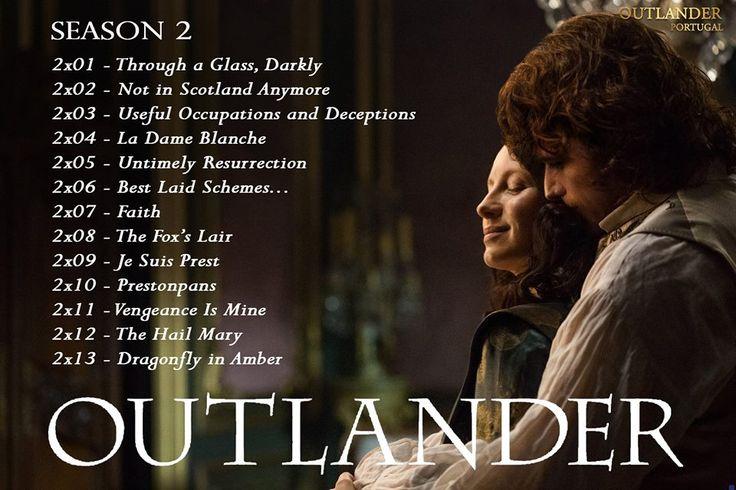Season 2 Episodes List #Outlander #VivelesFrasers