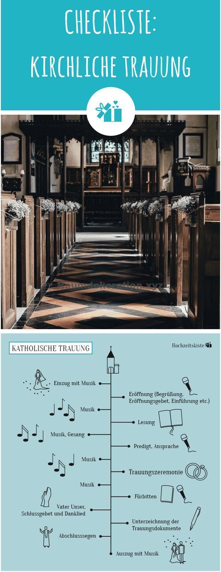 Tischdeko Hochzeit – Kirchliche Trauung – praktische Checkliste als gratis PDF-Download