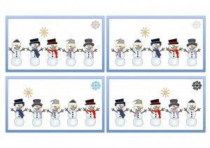 Planche bonhomme de neige 1
