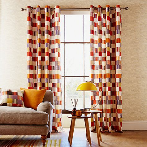 Buy Scion Navajo Lined Eyelet Curtains Blueprint From Our View All Ready Made Panels Range At John Lewis Free Delivery On Orders Over