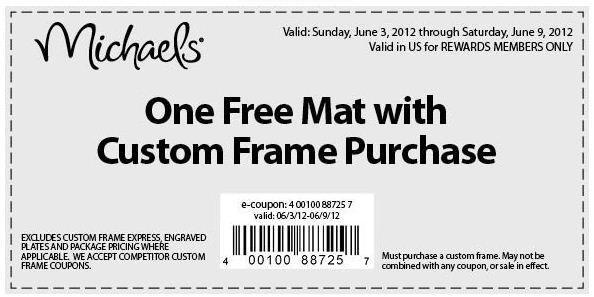 Michaels printable coupon custom framing