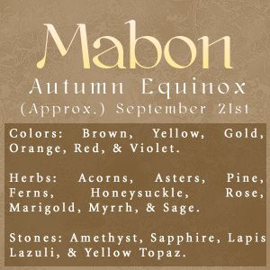 Autumn Equinox:  #Mabon.