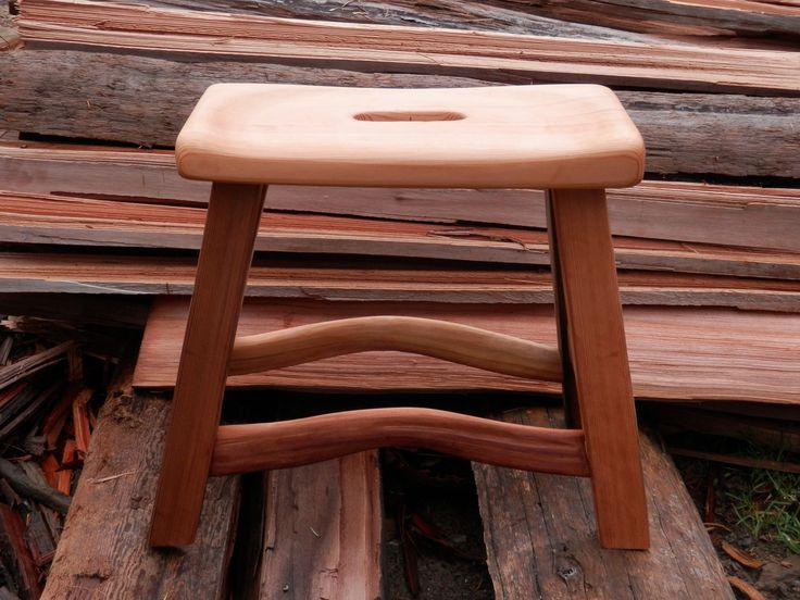 From salvaged cedar to small stool