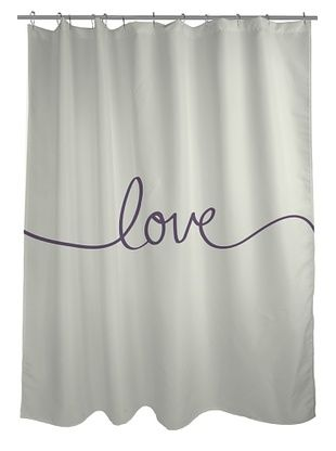 One Bella Casa Love Shower Curtain
