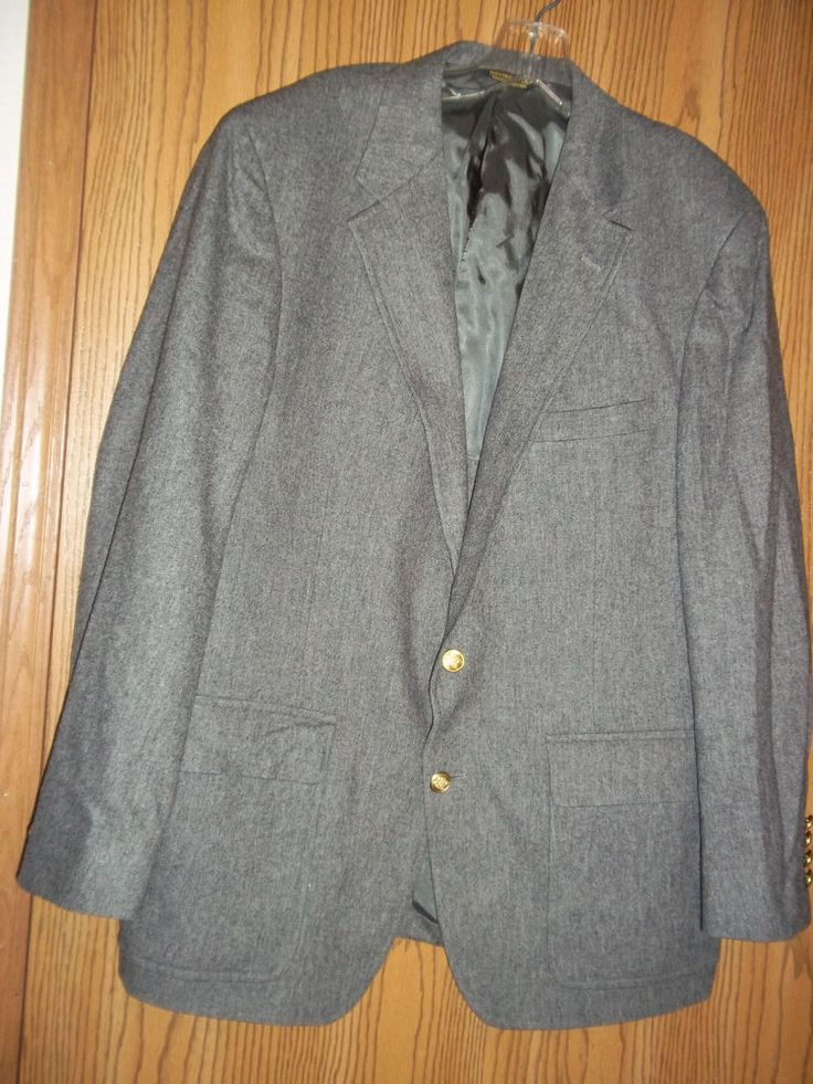Palm Beach Gray Suit Jacket Blazer Sportcoat 46 R #PalmBeach #TwoButton