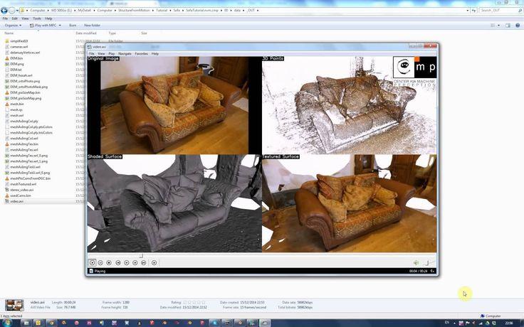 Structure From Motion Workflow - VisualSFM, CMPMVS, Meshlab, Blender