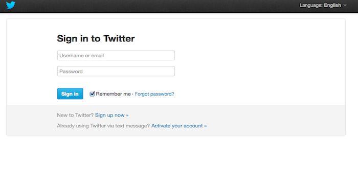 Twitter Logout